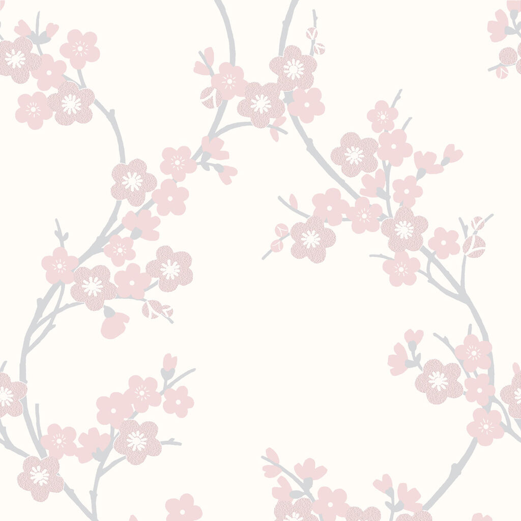 Cherry Blossom Soft Pink Wallpaper