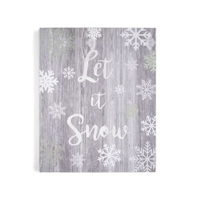 Let it Snow Print Wall Art , , large