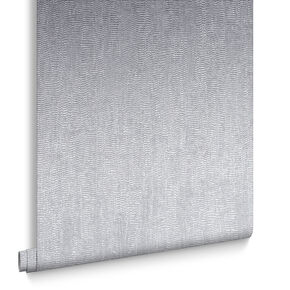 Water Silk Plain Silver Behang, , large