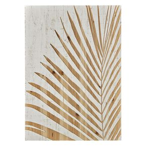 Palm Leaf Wood Panel Print On Wood Wall Art , , large