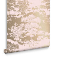 Papier Peint Meadow Or Rose, , large