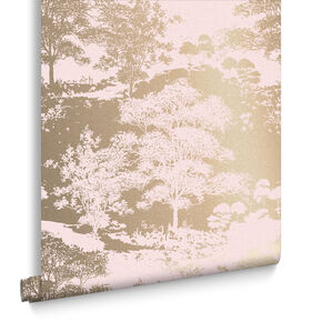 Meadow Rose Gold Wallpaper, , large