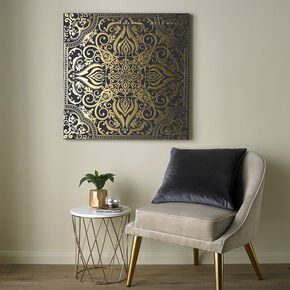 Golden Souk Tile Printed Canvas Wall Art, , large