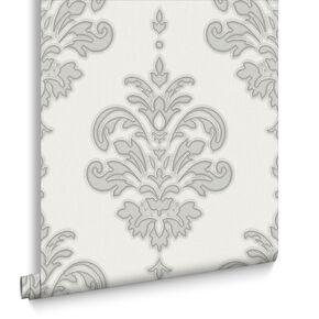 Olana Gray and White Wallpaper , , large