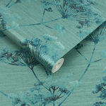Hortus Teal Wallpaper