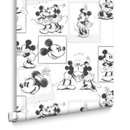 Mickey and Minnie Sketch Wallpaper, , large