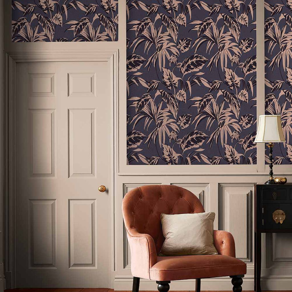 Palma Soft Gold and Notte Wallpaper, , large