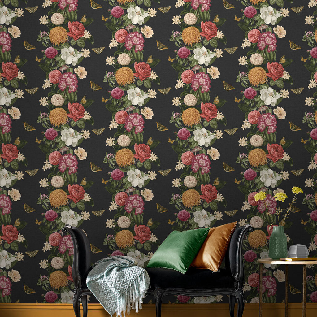 Bloomsbury Noir Wallpaper, , large