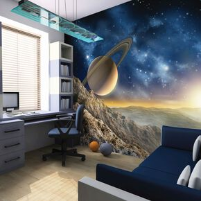 Galaxy Wall Ready Made Mural, , large