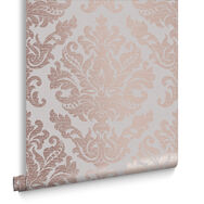 Antique Taupe & Rose Gold Behang, , large