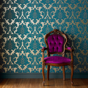 Large Majestic Teal Wallpaper