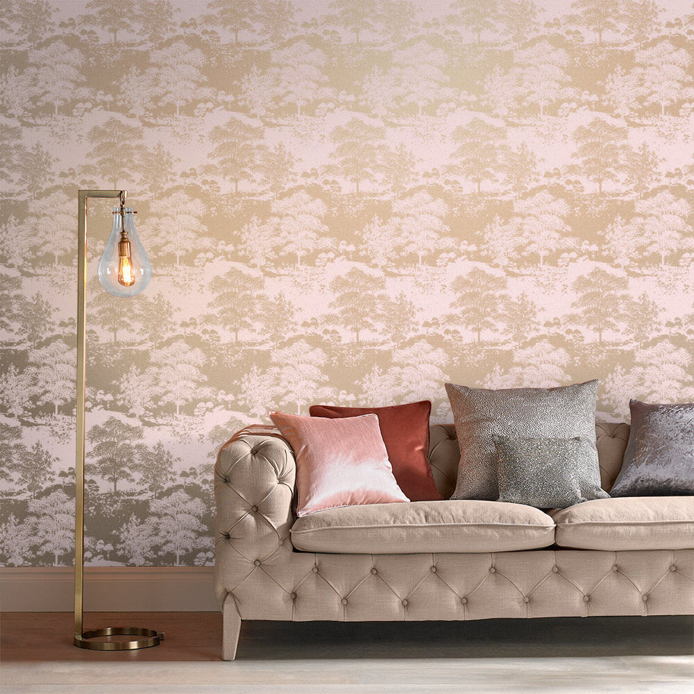 ... Large Meadow Rose Gold Wallpaper, ...