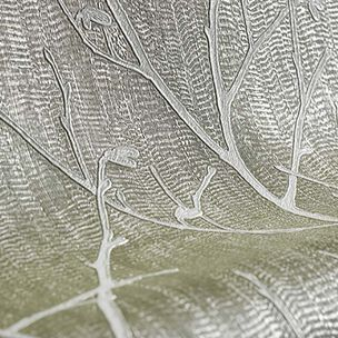 Papier Peint Water Silk Sprig Taupe, , large