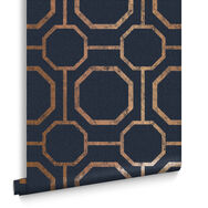 Sashiko Navy Wallpaper, , large