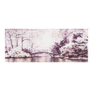 Toile Imprimée Watercolour Forest Bridge, , large