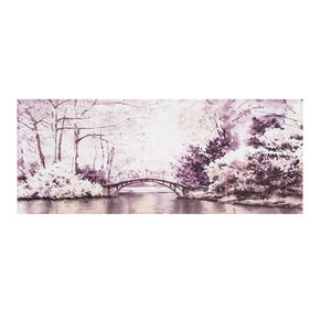 Watercolour Forest Bridge Printed Canvas Wall Art , , large