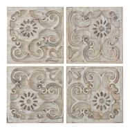 Moroccan Light Wood Set Of 4 Panels Print On Wood , , large