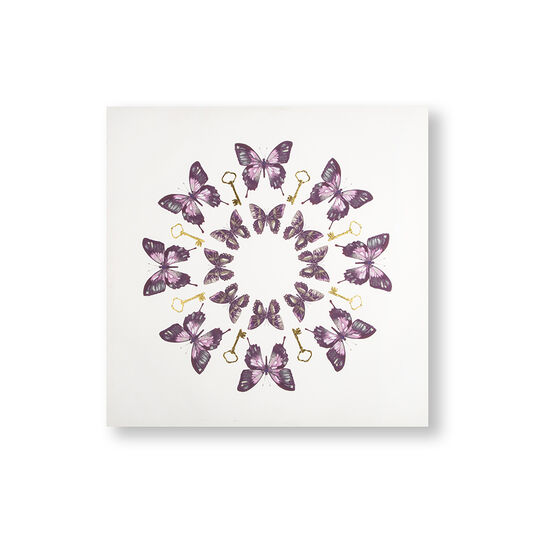 Blissful Butterflies Printed Canvas Wall Art, , large