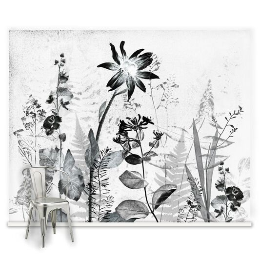 Couture Flower Press Ready Made Mural, , large
