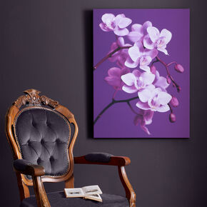 Purple Orchid Printed Canvas Wall Art, , large