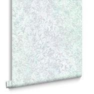 Botany Iridescent Green Wallpaper, , large