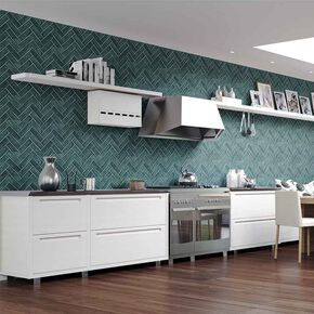 Lustro Teal Wallpaper, , large