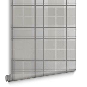 Tartan Silver Wallpaper , , large