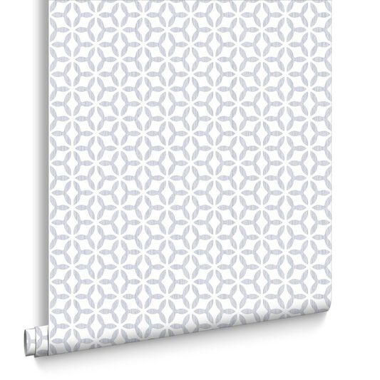 Helice Silver Wallpaper , , large