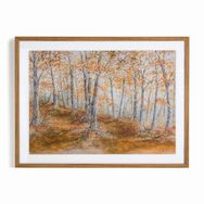 Amber Woodland Framed Wall Art Print, , large