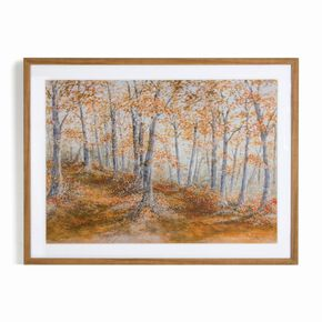 Amber Woodland Framed Print, , large