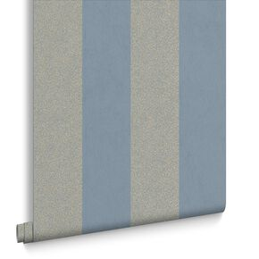 Artisan Stripe Blue Wallpaper, , large