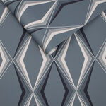 Vintage Deco Diamond Blue Wallpaper