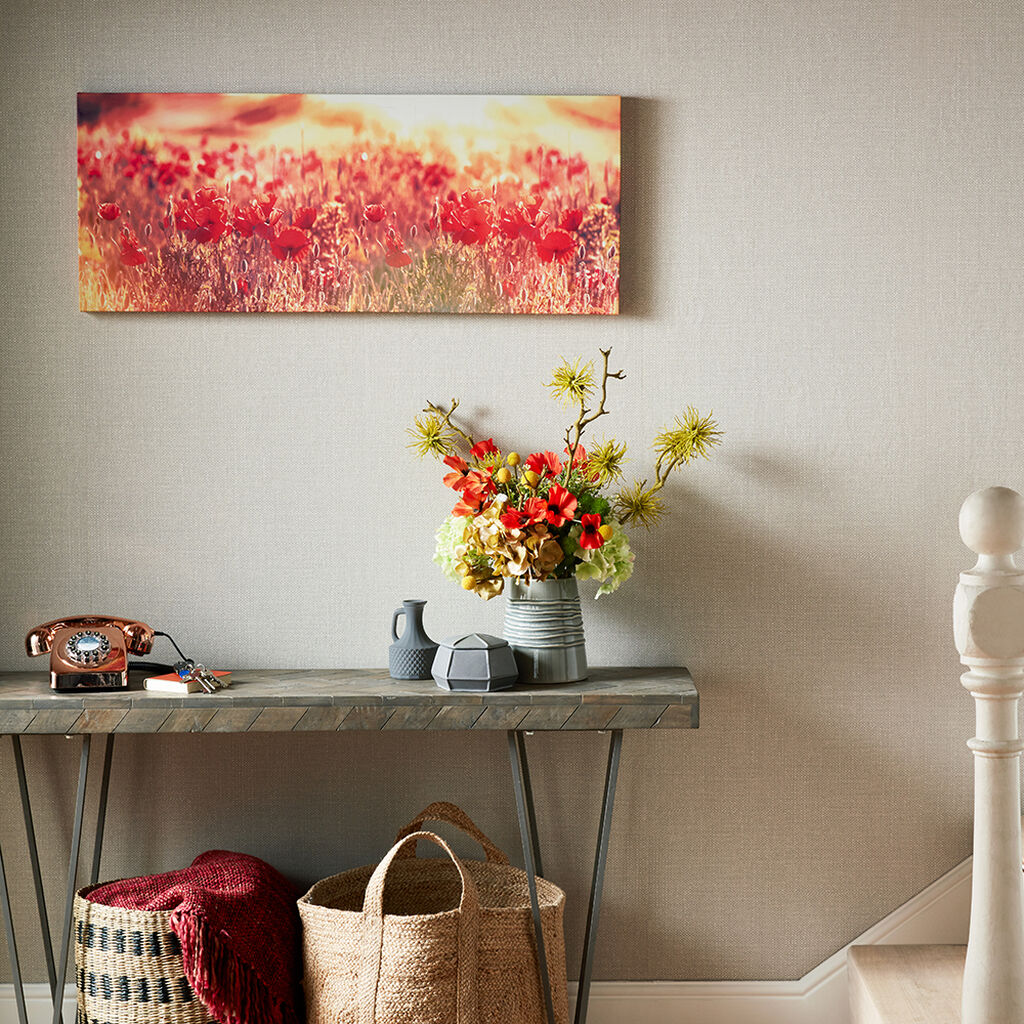 Peaceful Poppy Fields Printed Canvas Wall Art, , large