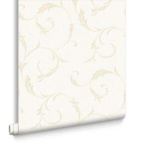 Athena White Gold Wallpaper, , large
