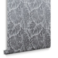 Tropical Pewter Wallpaper , , large