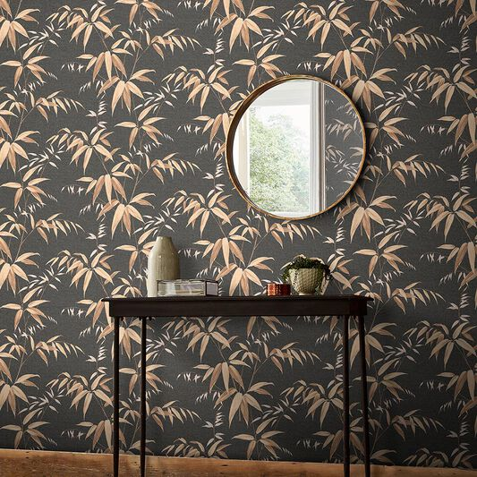Oriental Bamboo Earth Wallpaper, , large