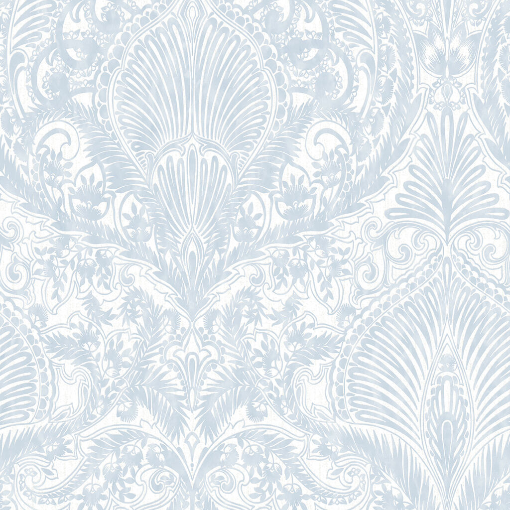 Burlesque Duck Egg Wallpaper, , large
