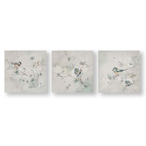 Beautiful Birds Trio Printed Canvas Wall Art, , large
