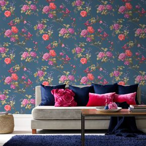 Oriental Blue Wallpaper, , large