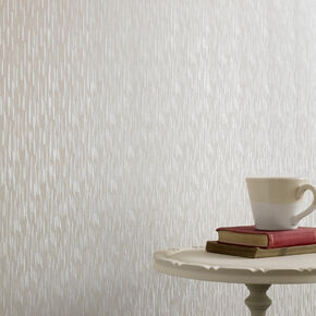 Silken Stria White Shimmer Wallpaper, , large