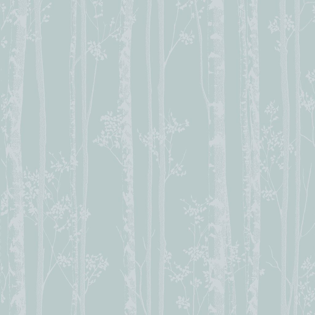 Linden Blue and White Wallpaper, , large