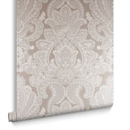 Souk Damask Cardamom Wallpaper, , large