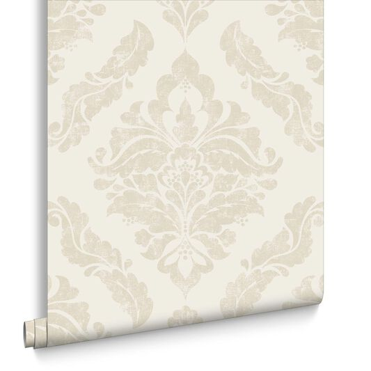 Damaris Cream Wallpaper, , large