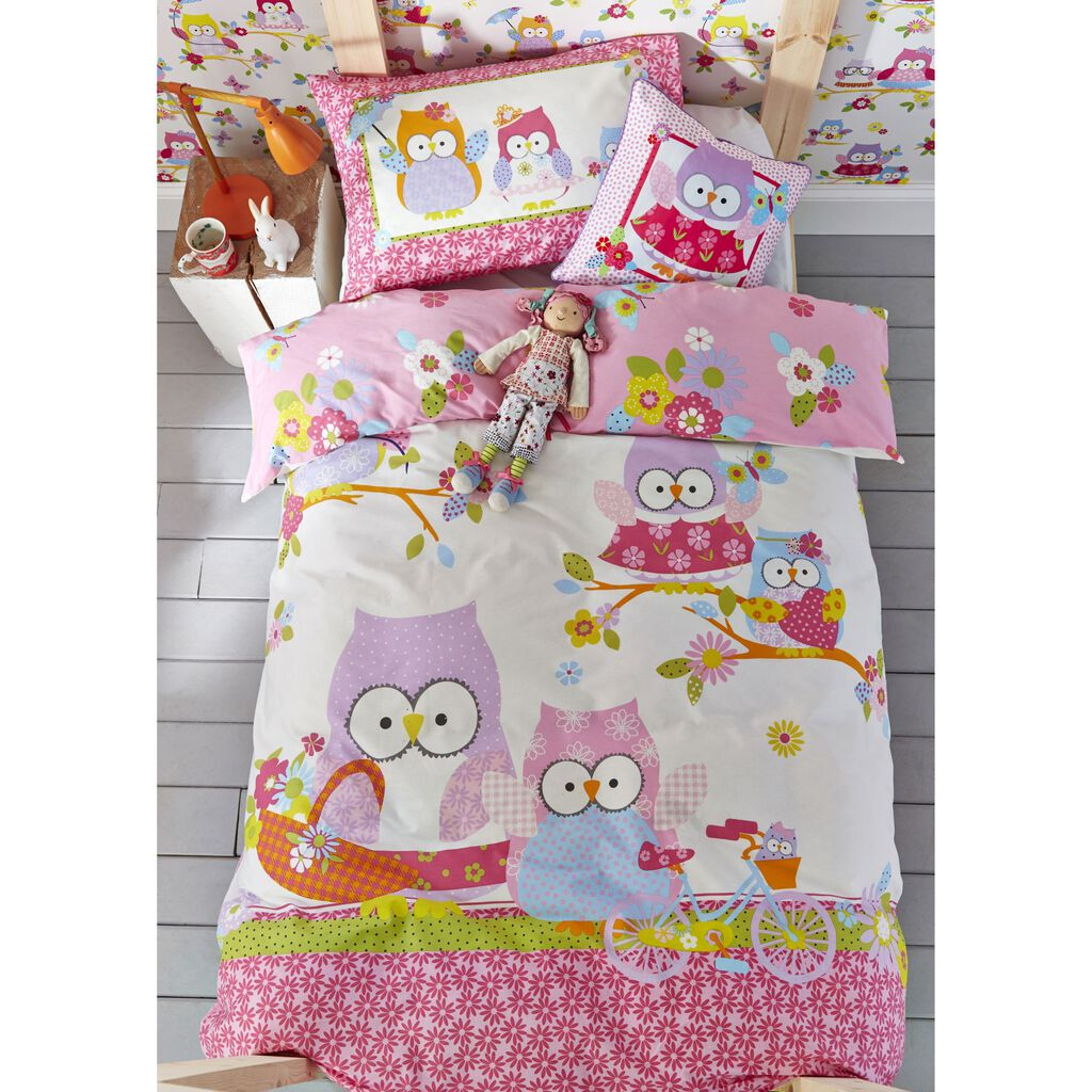 Olive The Owl Duvet Cover, , large