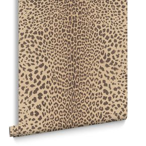 Leopard Beige Behang, , large