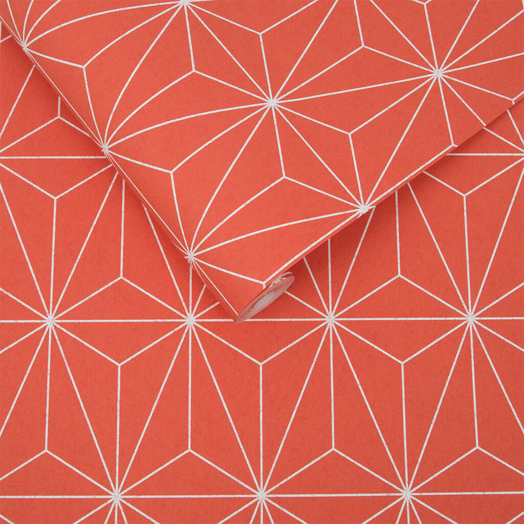 Prism Coral Wallpaper, , large