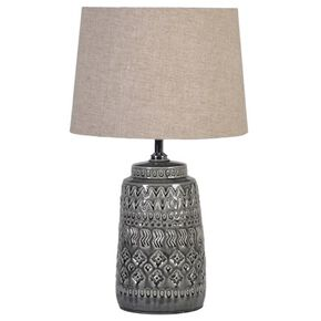 Grey Souk Patterned Lamp, , large