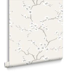 Apple Blossom Tree Natural Wallpaper, , large