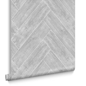 Herringbone Wood Wallpaper, , large