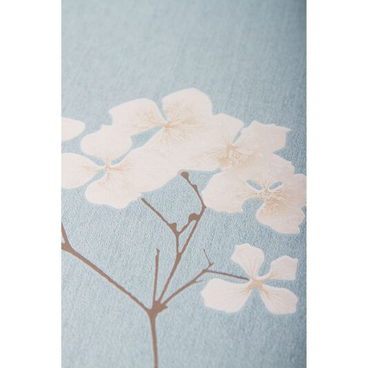 Radiance Blue and Cream Wallpaper, , large